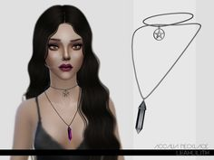 The Sims Resource: Accalia Necklace by LeahLillith • Sims 4 Downloads