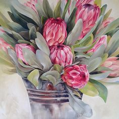 37 Best Ideas For Music Painting Canvases Canvas Art Protea Art, Protea Flower, Watercolor Flowers, Watercolor Art, Painting Flowers, Abstract Canvas, Canvas Art, Music Painting, Arte Floral
