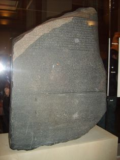 The Rosetta Stone: stolen for the Asian tourists to photo. Who cares if you know the significance?