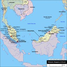 Brunei | Political Map of Malaysia and Brunei