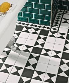 Grosvenor� Black/White Tile Topps Tiles £59.60 price/m²