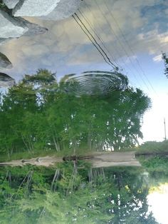 Yes. This is upside down on purpose. I like the ripple in the sky.