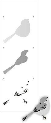 Stencil Pássaro II 10x30