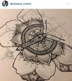Pin by Maya Krautwasser on Tattoos Botanisches Tattoo, Tattoo Dotwork, Great Tattoos, Mandala Tattoo, Future Tattoos, Love Tattoos, Tattoo Drawings, Body Art Tattoos, Tatoo Flowers