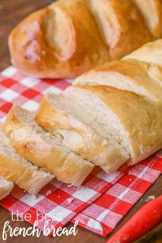 The BEST Homemade French Bread recipe - so soft and tasty!! Serve with butter or turn it into a delicious appetizer. Everyone loves this recipe!