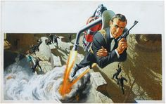 """007 Thunderball (Look Up!)"" original movie poster art by Frank McCarthy"