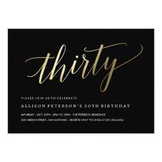 30th birthday invitation modern faux gold foil hello 30 thirty 30th birthday invitations formal faux gold filmwisefo