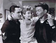 "Gene Kelly, a very young Dean Stockwell, and Frank Sinatra, ""Anchors Aweigh"" One of my all time Favorites! Golden Age Of Hollywood, Hollywood Stars, Classic Hollywood, Old Hollywood, Beverly Hills, Dean Stockwell, An American In Paris, Cinema, Gene Kelly"