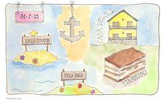 Isola Bella bezoeken #illustratie #artjournal #watercolour #vakantie #italie #Sandysign. http://sandysign.nl