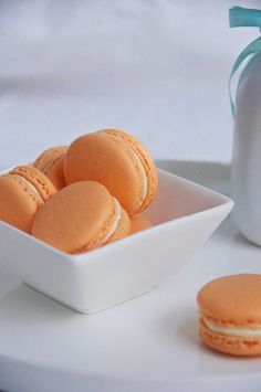 Sweet Boake   Baking Blog : Creamsicle Macarons. These turned out great for me! The only thing is, the shell batter was a littlw too thick and a more than a little too sweet. Maybe cut the powdered sugar by 33% next time. Also, i used a  satsuma instead of an orange and the flavor was wooooonderful