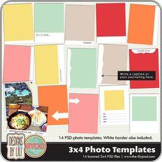 3x4 Photo Templates- Designs by Lili