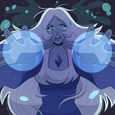Awesome art for Blue Diamond, unknown artist Steven Universe Drawing, Steven Universe Memes, Universe Art, Blue Diamond Su, Blue Diamond Steven Universe, Steven Universe Personajes, Desenhos Cartoon Network, Steven Univese, Nerd