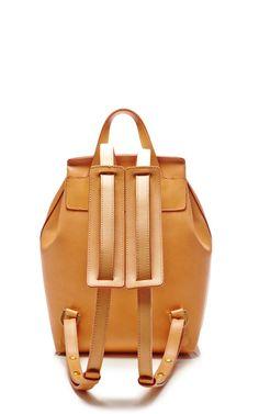 Mini Backpack In Camello With Orange by Mansur Gavriel for Preorder on Moda Operandi