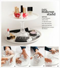 #DIY #Makeup Stand - Adorable! #organizedbeauty #organize