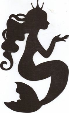 Mermaid silhouette by hilemanhouse on Etsy