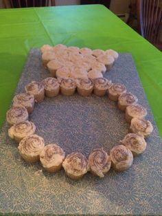 Ring of cupcakes. Cute bridal shower or engagement party idea.