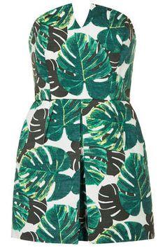 Combi jupe-short bandeau à motif palmier Petite