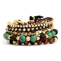 Ettika :: Stacks :: Bohemian with a Touch of Sparkle Bracelet Stack