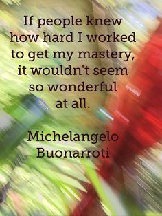 #Michelangelo #quote on my photo. Colorcatstudios.blogspot.com #colorcatstudios colorcatstudios101.etsy.com