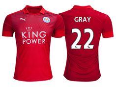Leicester City #22 Demarai Gray 2016-17 Road Short Shirt
