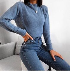 Blauer Pullover und Blue Jeans – added to our site quickly. hello sunset today we share Blauer Pullover und Blue Jeans – photos of you among the popular hair designs. You can look at all images and designs related to new model hair designs from … Instagram Outfits, Fresh Outfits, Cute Casual Outfits, Casual Dressy, Retro Outfits, Vintage Outfits, Comfy Casual, Casual Fall, Stylish Outfits
