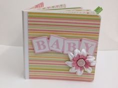 Baby Girl Premade Pages Scrapbook Album- 5x5Board Book baby shower, new baby on Etsy, $35.00