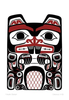 Haida Beaver by Clarence Mills