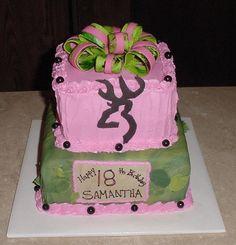browning pink camo bride cake- cute idea :)