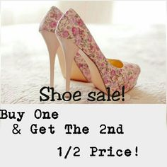SHOE SALE......!!!!!!! Shoes Sale...........  Buy one pair of Shoes and get the second pair 1/2 Price.   NOTE: You will pay Full Price for the pair of shoes Higher in Price and Will get the second pair lower in price half off. Michael Kors Shoes