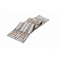 Frank Lloyd Wright Oak Park Table Runner by Rennie & Rose Design Group. $54.59. 911 Features: -Fabric: Poly / Cotton / Acrylic.-One sided design.-Machine wash cold, lay flat to dry.-Dry clean for best results.-Made in the USA. Collection: -Frank Lloyd Wright collection.