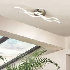 SKAPETZE -    Wavy / LED-Deckenleuchte / Nickel Matt / 1162 Lumen Innenleuchten Deckenleuchten