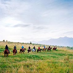 Montana dude ranches - want to go with the kids someday! Can't imagine Marko on a horse...lol