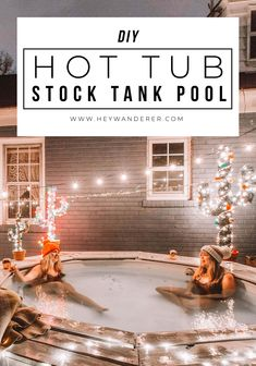 your own hot tub and use your stock tank pool year round! Hint: this is not wood fired!DIY your own hot tub and use your stock tank pool year round! Hint: this is not wood fired! Stock Pools, Stock Tank Pool, Jacuzzi, Pool Diy, Piscine Diy, Winter Diy, Backyard Makeover, After Life, Pool Houses