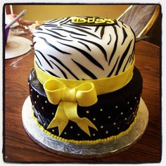 Zebra cake! Created by Tito's Cakes