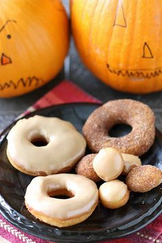 Halloween Refrigerator Donut Recipe With Maple Glaze Or Cinnamon Sugar from @Cookin' Canuck Dara Michalski