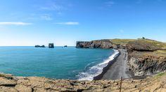 Dyrhólaey, Heimaey, Suðurland, Iceland. Þjóðvegur. - Panorama of Dyrhólaey, Heimaey, Suðurland, Iceland. Þjóðvegur, july 2016.