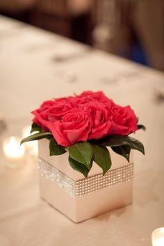 Easy Table Decor. Black Roses For Halloween Gala?