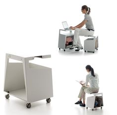 Product name: Smith.  Designed by: Jonathan Olivares.  A clever storage unit on wheels .
