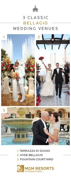 Live out your destination wedding dreams at the effortlessly elegant Bellagio. Have a magnificent terrace wedding on the Terrazza di Sogno, enjoy stunning fountain views at Hyde Bellagio or have an intimate ceremony in the Fountain Courtyard. Learn more about these timeless venues.