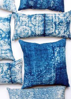 L U R U H O M E Founded in Shanghai to preserve a heritage craft, Nankeen indigo dyeing,LuRu Home offers textiles and home accessories that draw on the Far East,reimagining traditional Chinese fabrics for a contemporary way of living. Azul Indigo, Indigo Blue, Shibori, Textiles, Artisanats Denim, Boho Cushions, Denim Crafts, Amazing Decor, Blue Aesthetic