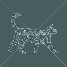 геометрические кошка — Векторная картинка #51475897