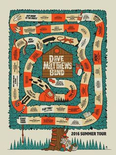 DMB Poster - Summer Tour 2016