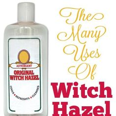 25 Magical Uses For Witch Hazel...http://homestead-and-survival.com/25-magical-uses-for-witch-hazel/