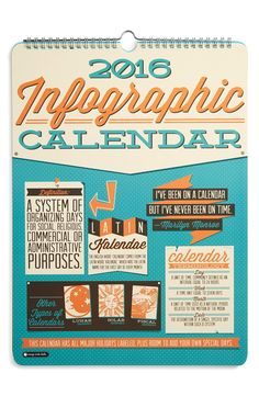 Orange Circle Studio Infographic Calendar
