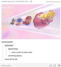 When they made this discovery about Mario. | 36 Times Tumblr Proved It Was The Funniest Place On The Internet