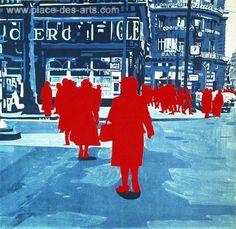 Boulevard des Italiens : Treize heures, Sérigraphie, du peintre, Gérard, FROMANGER, Signée et numérotée au crayon