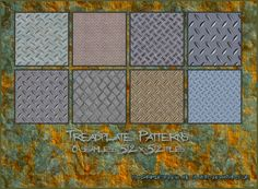 Tread plates Patterns by ~silver- on deviantART