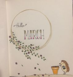 Waiting for the Spring. :) March cover page in my first BuJo :)