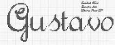 Resultado de imagem para grafico do nome gustavo em ponto cruz