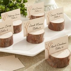 Rustic Real Wood Place Card/Photo Holder
